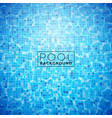 water in tiled pool background design vector image