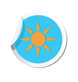 Weather forecast sun icon vector image vector image