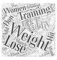 weight training Word Cloud Concept vector image vector image
