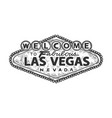 welcome to fabulous las vegas sign sketch vector image