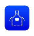 welding apron icon digital blue vector image