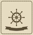 wheel- nautical theme vector image vector image
