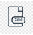xml concept linear icon isolated on transparent vector image