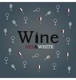 wine glass concept menu design vector image