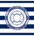 sea emblem with a lifebuoy vector image