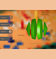 3d infographic template with two cones and two vector image vector image