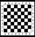 a chessboard white and bla vector image