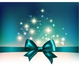 Abstract Christmas light background with ribbon vector image vector image
