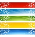Abstract website floral banners
