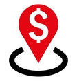 Bank Location Flat Icon vector image vector image