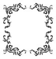 baroque pattern elements vector image vector image