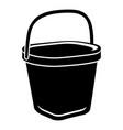 big bucket icon simple style vector image vector image