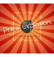 black bomb with sale sticker vector image vector image