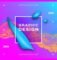 blue fluid shapes liquid geometric background vector image