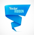 Blue ribbon banner vector image vector image