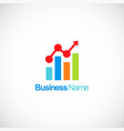 business finance stock chart company logo vector image