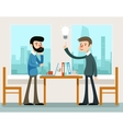Business idea Businessmen discussing strategy vector image vector image