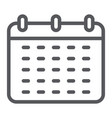 calendar line icon reminder and date schedule vector image vector image