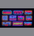 casino collection neon signs design vector image vector image