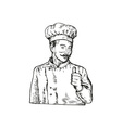 Chef Cook Baker vector image vector image