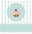 Cherry cupcake invitation card vector | Price: 1 Credit (USD $1)
