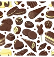 Chocolate set pattern vector image vector image