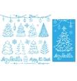 Christmas tree ballsdecortitlesBlue Card vector image vector image