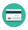 circle flat icon credit card vector image