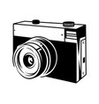 classic old film camera for take a photo 35mm vector image