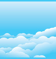 cloud template vector image vector image