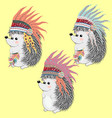 collection cute and funny indian animals a vector image vector image