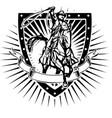 cowboy shield vector image vector image