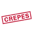 Crepes rubber stamp vector image vector image