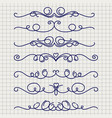 cute doodle thin line borders vector image