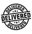 delivered round grunge black stamp vector image vector image