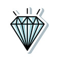 diamond elegant isolated icon vector image