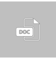 DOC computer symbol vector image vector image