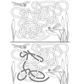 Dragonfly maze vector image vector image