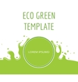 Eco green organic natural template vector image