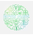 Ecology green vector image vector image