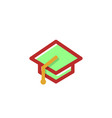education graduate logo icon isolated elements vector image vector image