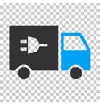 Electric Truck Eps Icon vector image vector image
