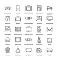 event supplies flat line icons party equipment vector image vector image