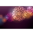 Festive colour firework background vector image vector image