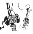 fishing rod and bait for tuna vector image vector image