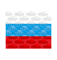 Flag of Russia with texture of tanks Russian vector image vector image