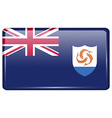 Flags Anguilla in the form of a magnet on vector image