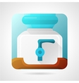 Flat stylish icon for water cooler vector image vector image