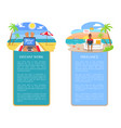 freelance at seaside distant vector image vector image