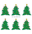 game for children with christmas trees vector image